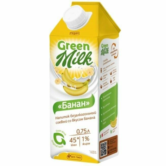 "Молоко банановое ""Green Milk"" 750 мл."