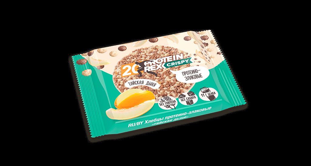 Хлебцы протеино-злаковые ProteinRex, Тайская дыня, 55 гр.
