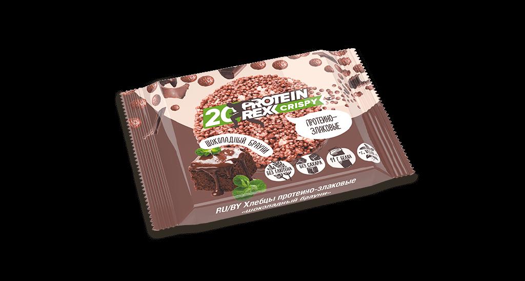 Хлебцы протеино-злаковые ProteinRex, Шоколадный Брауни, 55 гр.