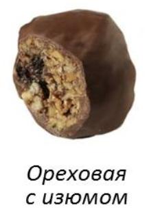 Конфеты BonBon ореховая с изюмом (красная) 6 шт.