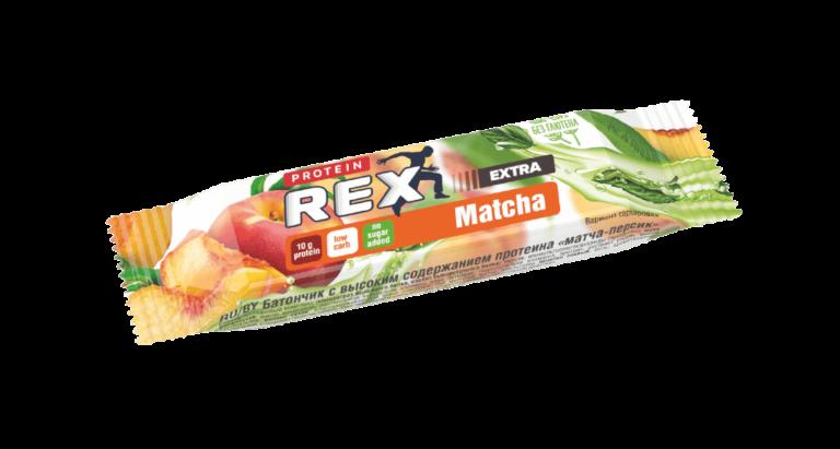 """Батончик протеиновый ProteinRex """"Матча-Персик"""" 40 гр."""