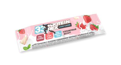 """Батончик протеиновый ProteinRex """"Клубничный десерт"""" 60 г.."""