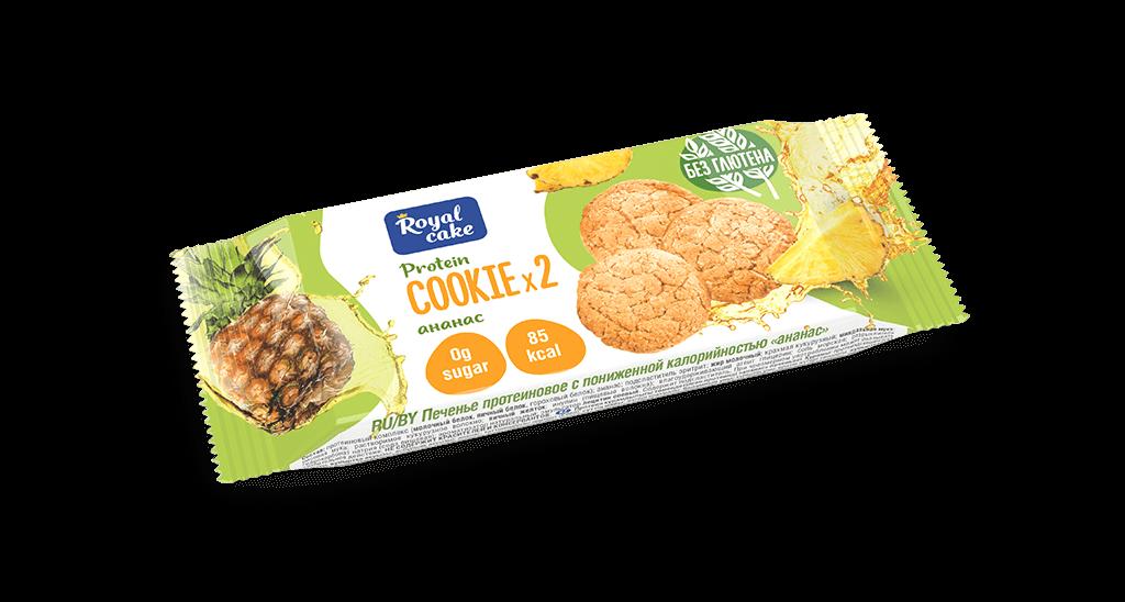 """Печенье с высоким содержанием протеина """"Ананас"""" 50 гр."""
