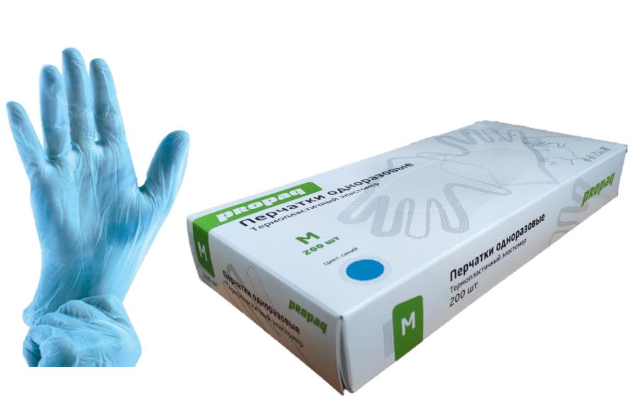 Перчатки из эластомера прозрачные размер М (100 шт.)