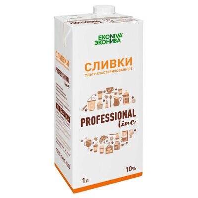 """Сливки """"Professional Line Эконива 10%"""" 1000 мл."""