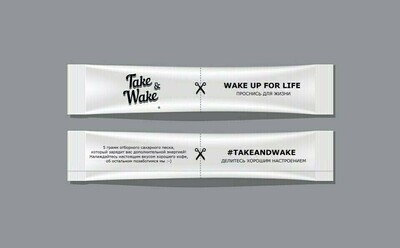 """Сахар в стиках """"Take&Wake"""" (5гр.) (100 шт.)"""