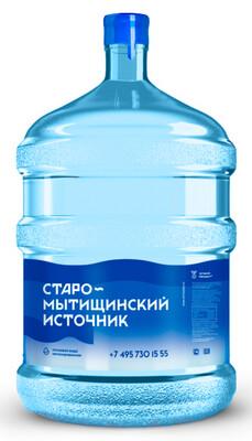 """Вода """"Старомытищинский источник"""" 19 л. (ЗАКАЗ ОТ 3 БУТЫЛЕЙ)"""