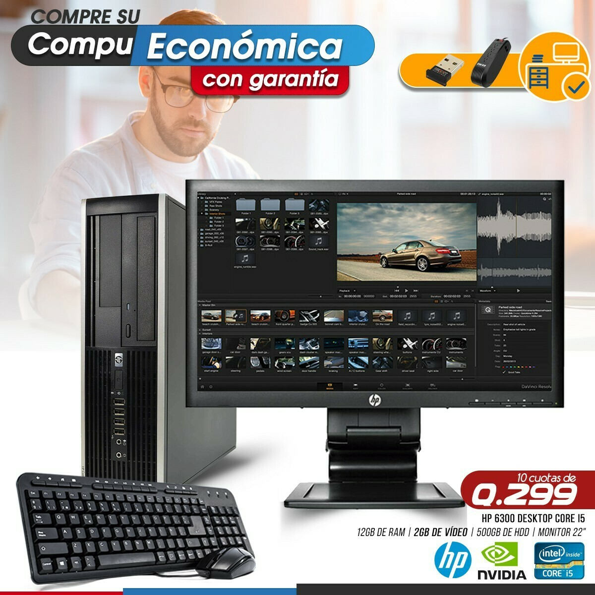 HP Elite Pro 6300 Core i5 Desktop