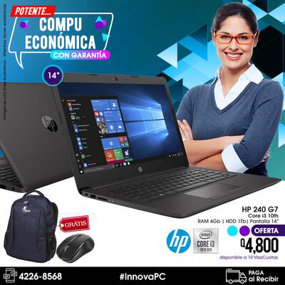 HP 240 G7 Core i3 10 Generación