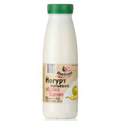 Йогурт питьевой 1% банан-яблоко 300 гр
