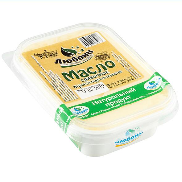 Масло сливочное 82,5% 200г
