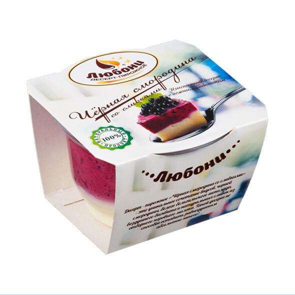 Десерт сливочный «Черная смородина со сливками»  125 гр