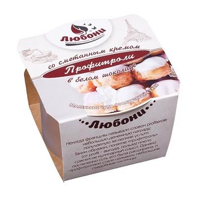 Профитроли в белом шоколаде 70 гр