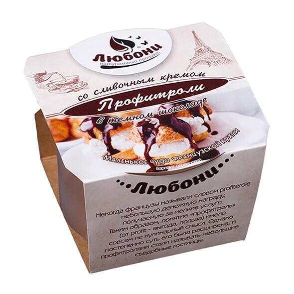 Профитроли в тёмном шоколаде 70 гр