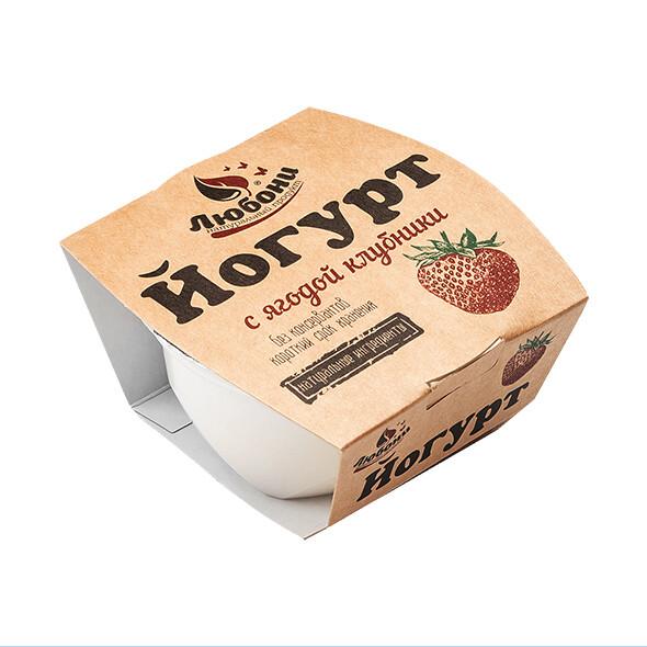 Йогурт с ягодой клубники 1% 175 гр