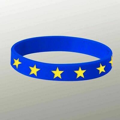 Blue and yellow stars Wristband
