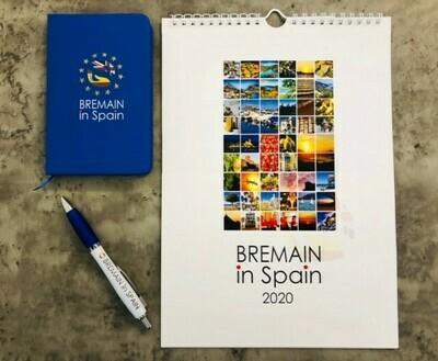 Bremain branded Notebook, Pen and Calendar