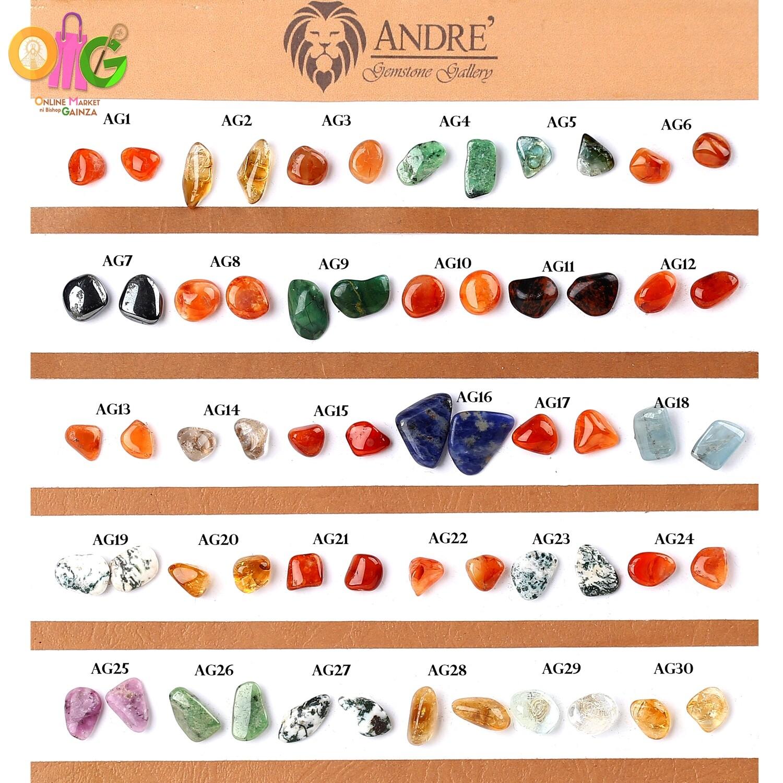 Andre Gemstone - Earrings Tumbled Gemstone