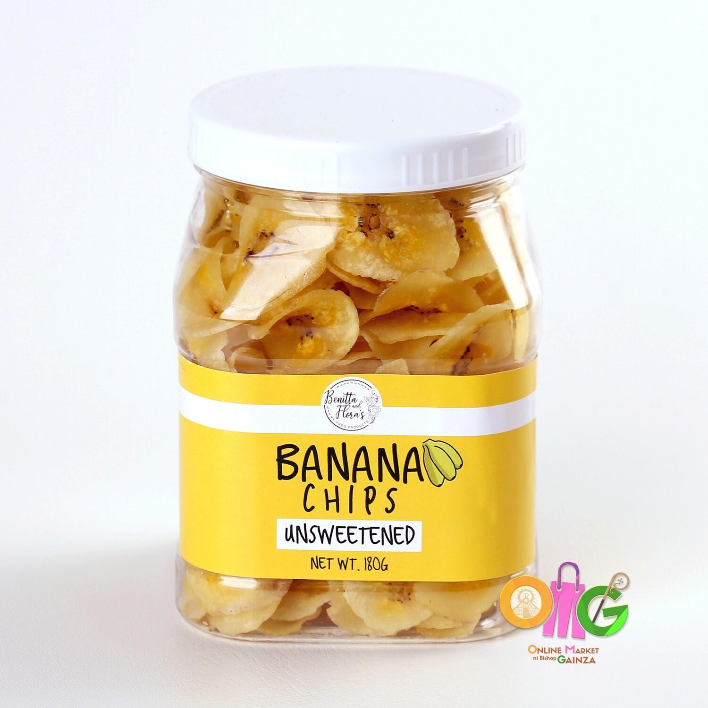Benitta and Flora's - Banana Chips Unsweetened