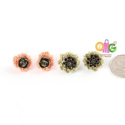 BuTinTing's - Flower Stud Earrings