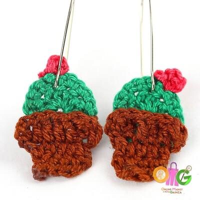 BuTinTing's - Succulent Earrings