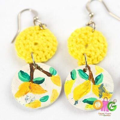 BuTinTing's - Lemon Earrings