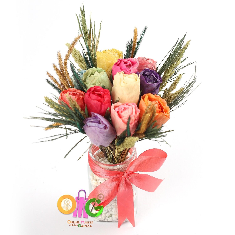 Cahs Nostalgic Petals Flower Shop - Flower Vase (Assorted Color)