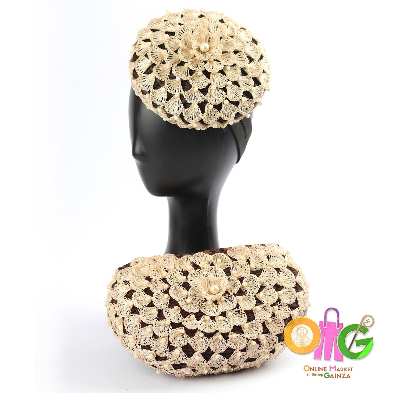 HGQ Handicrafts - Pearl Fascinator & Clutch