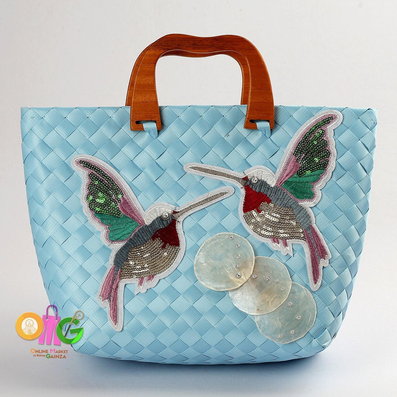 Jem's Bayongciala Bag - Bayong Bag with Wooden Handle