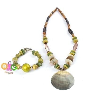 Mom Ofels Print & Crafts - 1 Necklace with Bracelet Set (Capiz)