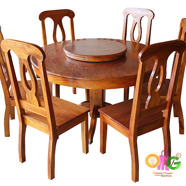 Planes & Angles - Round Dining Table 6 Seater