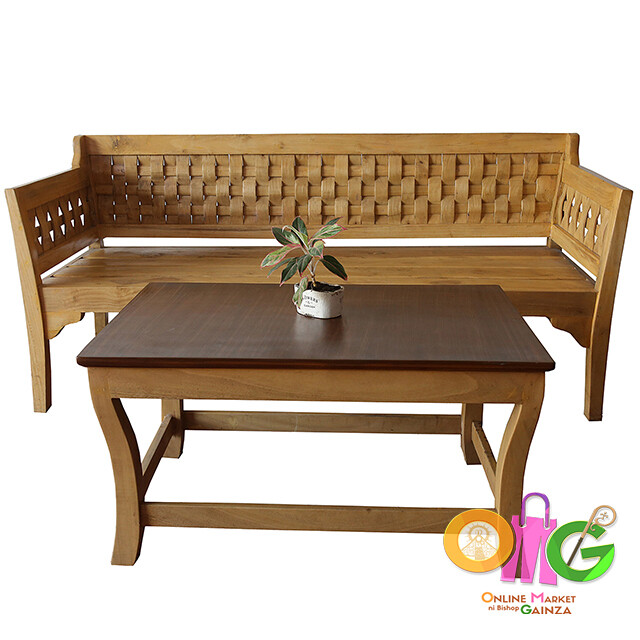 RBT2 Arts & Craft - Wooden Sofa with Center Table Finish