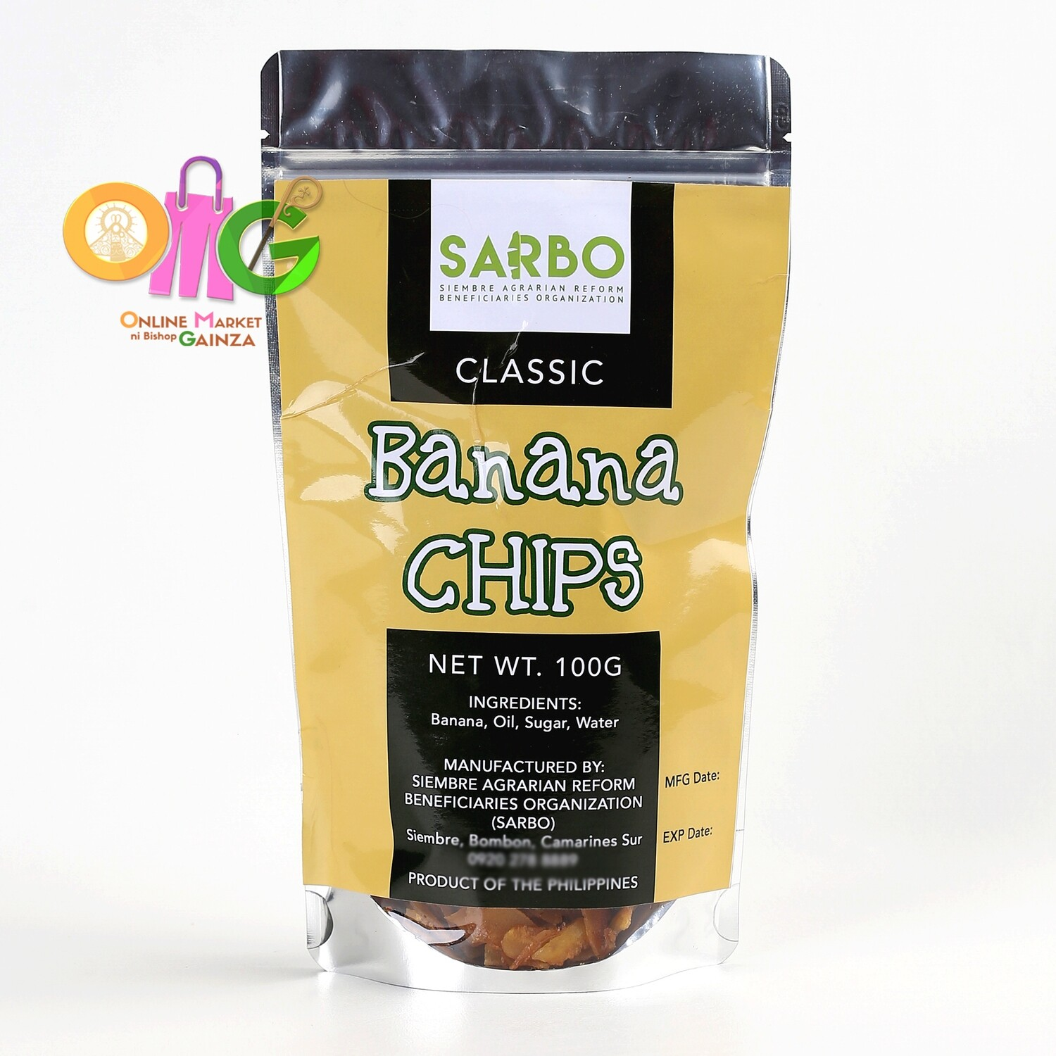 SARBO - Banana Chips Classic Flavor