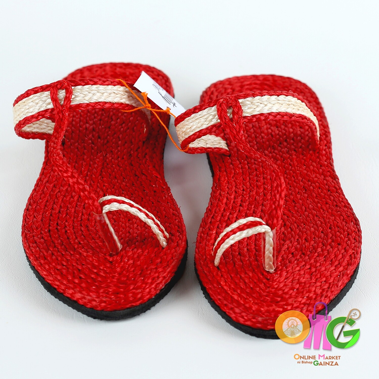 SEDP MPC - Abaca Slippers Red