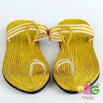 SEDP MPC - Abaca Slippers Yellow