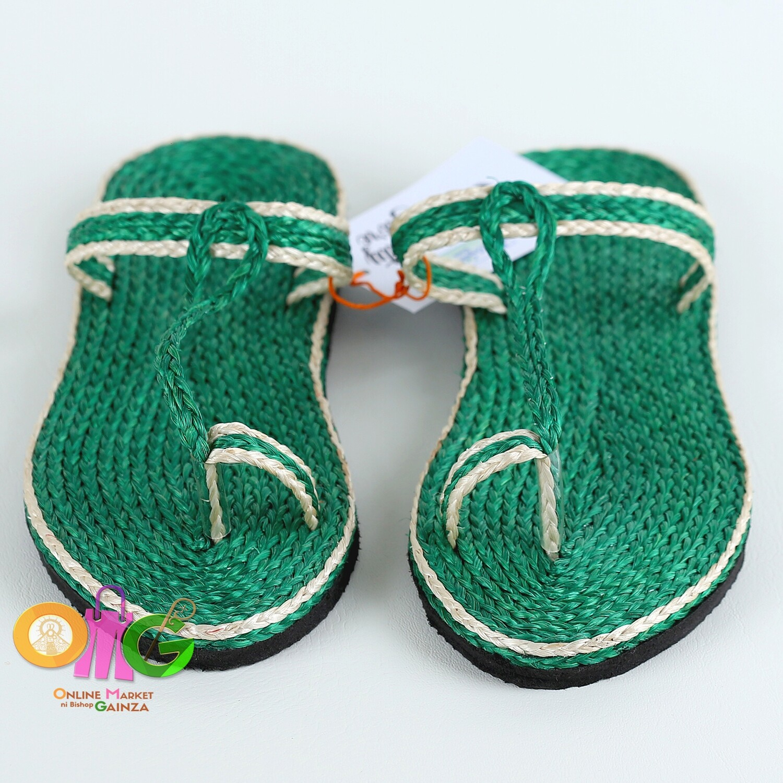 SEDP MPC - Abaca Slippers Green