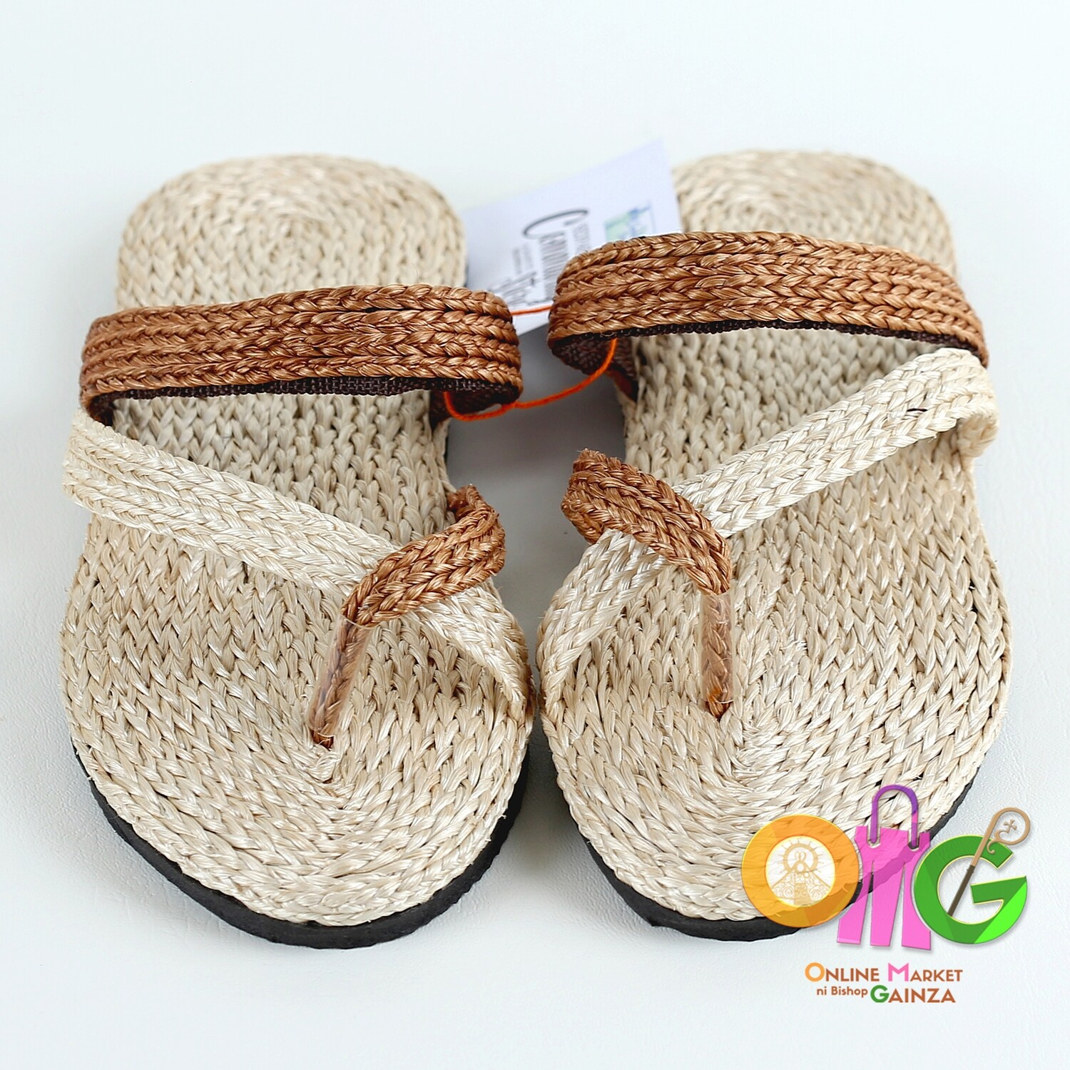 SEDP MPC - Abaca Sandals with Dark Brown Accent