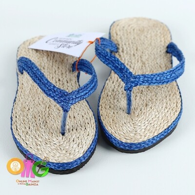 SEDP MPC - Abaca Slippers with Dark Blue Accent