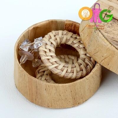 Icenhart Kawaii Handicrafts - Round Abaca Earrings