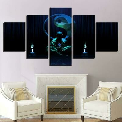 Budda Meditate- 5 Panel Canvas Print Wall Art Set