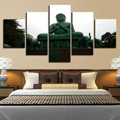 Big Buddha- 5 Panel Canvas Print Wall Art Set