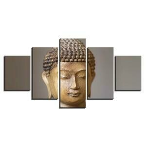 Buddha Modular- 5 Panel Canvas Print Wall Art Set