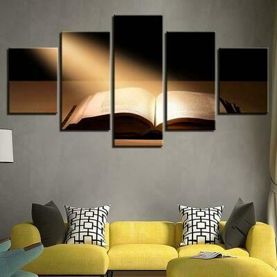 Bible Under The Sun - 5 Panel Canvas Print Wall Art Set