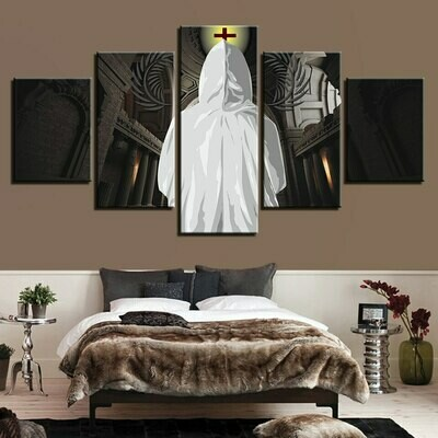 Christian Believer - 5 Panel Canvas Print Wall Art Set