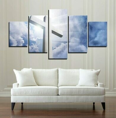 Christian Light - 5 Panel Canvas Print Wall Art Set