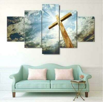Christian - 5 Panel Canvas Print Wall Art Set