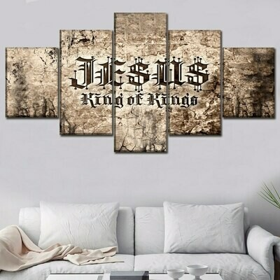 Christian Scripture - 5 Panel Canvas Print Wall Art Set