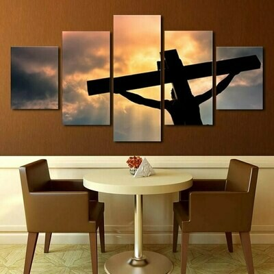 The Christian Sacrifice - 5 Panel Canvas Print Wall Art Set