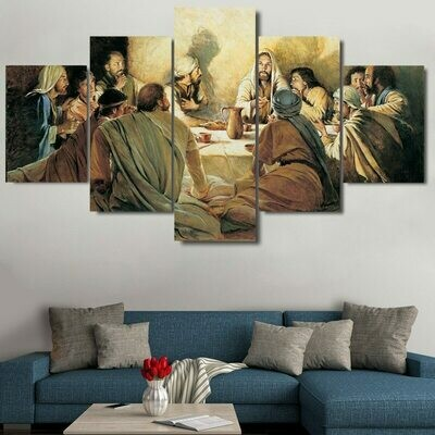The Last Dinner - 5 Panel Canvas Print Wall Art Set