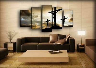 God Jesus - 5 Panel Canvas Print Wall Art Set